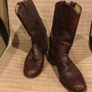 Justin Leather Roper Cowboy Western Boots